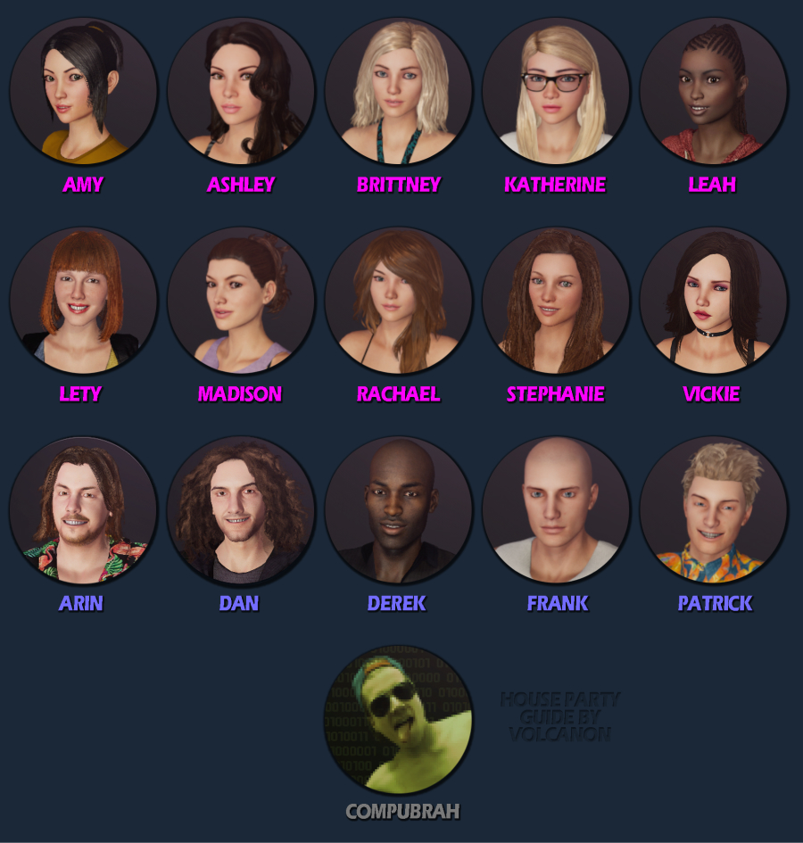 House Party characters